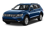 2019 Volkswagen Tiguan Confrontline-business  5 Door SUV angular front stock photos of front three quarter view