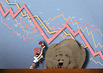 Illustrative representation showing stock market crash