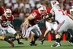 Wisconsin Badgers offensive lineman Kevin Zeitler (70) prepares to block during an NCAA college football game against the Ohio State Buckeyes on October 16, 2010 at Camp Randall Stadium in Madison, Wisconsin. The Badgers beat the Buckeyes 31-18. (Photo by David Stluka)