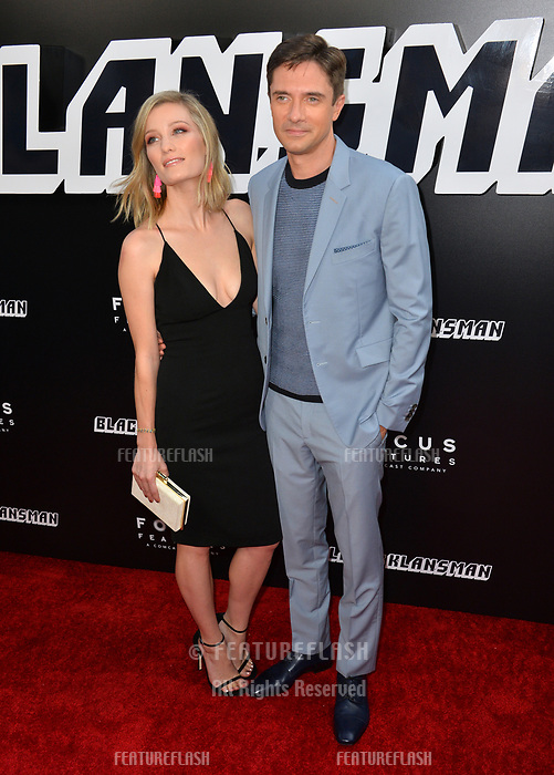 Topher Grace &amp; Ashley Hinshaw at the Los Angeles premiere of &quot;BlacKkKlansman&quot; at the Academy's Samuel Goldwyn Theatre, Beverly Hills, USA 08 Aug. 2018<br /> Picture: Paul Smith/Featureflash/SilverHub 0208 004 5359 sales@silverhubmedia.com