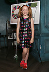 """Charlotte Wise attends the Birthday Party Photo Call for the Wheelhouse Theater Company production of Kurt Vonnegut's """"Happy Birthday, Wanda June""""  on October 3, 2018 at Bond 45 Times Square in New York City."""