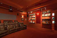 Home theater with elevated seating