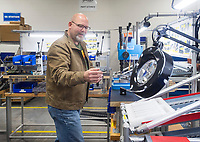 NWA Democrat-Gazette/BEN GOFF @NWABENGOFF<br /> Greg Cornett, director of manufacturing, explains the steps in assembling and testing a Walther PPK pistol Friday, Jan. 4, 2019, at Walther Arms in Fort Smith.