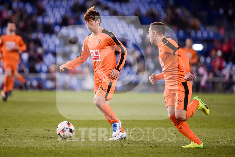 SD Eibar's Takashi Inui during Copa del Rey match between Atletico de Madrid and SD Eibar at Vicente Calderon Stadium in Madrid, Spain. January 19, 2017. (ALTERPHOTOS/BorjaB.Hojas)