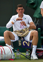 England, London, 26.06.2014. Tennis, Wimbledon, AELTC, Milos Raonic (CAN)<br /> Photo: Tennisimages/Henk Koster