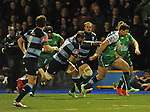 Connacht's Danie Poolman bursts through the Blues defence<br /> Guiness Pro12<br /> Cardiff Blue v Connacht<br /> BT Sport Cardiff Arms Park<br /> 06.03.15<br /> &copy;Ian Cook -SPORTINGWALES