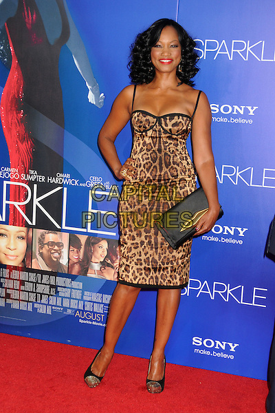 "Garcelle Beauvais.""Sparkle"" Los Angeles Premiere held at Grauman's Chinese Theatre,Hollywood, California, USA, 16th August 2012..full length leopard animal print dress hand on hip clutch bag shoes .CAP/ADM/BP.©Byron Purvis/AdMedia/Capital Pictures."