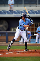 Charlotte Stone Crabs first baseman Dalton Kelly (7) at bat during a game against the Lakeland Flying Tigers on April 16, 2017 at Charlotte Sports Park in Port Charlotte, Florida.  Lakeland defeated Charlotte 4-2.  (Mike Janes/Four Seam Images)