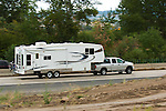 Heavy Duty Dodge Ram towing fifth wheel RV