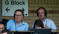 BBC Bill Turnbull & BBC Three Counties Phil Catchpole during the Sky Bet League 2 match between Wycombe Wanderers and Accrington Stanley at Adams Park, High Wycombe, England on 21 April 2018. Photo by Andy Rowland.