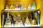 Buddha figures Gangaramaya Buddhist Temple, Colombo, Sri Lanka, Asia