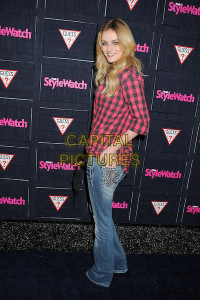 Lydia Hearst.People StyleWatch hosts Hollywood Demin Party in honor of 2nd Annual Denim Issue held at Palihouse, West Hollywood, California USA..20th September 2012.full length shirt jeans denim side black red gingham.CAP/ADM/BP.©Byron Purvis/AdMedia/Capital Pictures.