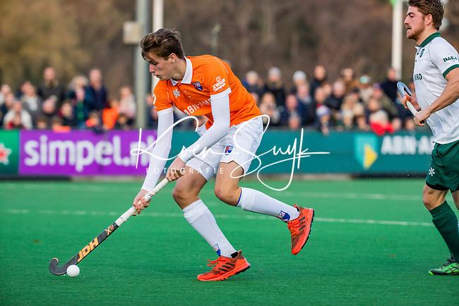 BLOEMENDAAL - Casper van der Veen (Bldaal) tijdens  hoofdklasse competitiewedstrijd  heren , Bloemendaal-Rotterdam (1-1) .COPYRIGHT KOEN SUYK