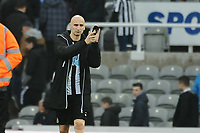 Jonjo Shelvey of Newcastle United applauds fans at the final whistle during Newcastle United vs Southampton, Premier League Football at St. James' Park on 10th March 2018