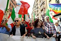 Roma, 25 Aprile 2018<br /> 73&deg; Anniversario della Liberazione dal Nazi fascismo<br /> Corteo fino a Porta San Paolo