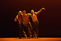 Sadler's Wells presents Natalia Osipova in a triple bill of specially commissioned dance works, by her, from choreographers Sidi Larbi Cherkaoui, Russell Maliphant and Arthur Pita.  The piece shown is:  Qutb, by  Sidi Larbi Cherkaoui. The picture shows:  James O'Hara, Jason Kettelberger, Natalia Osipova