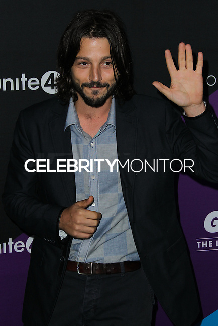 CULVER CITY, LOS ANGELES, CA, USA - FEBRUARY 27: Diego Luna at the 1st Annual unite4:humanity Presented by unite4:good and Variety held at Sony Pictures Studios on February 27, 2014 in Culver City, Los Angeles, California, United States. (Photo by Xavier Collin/Celebrity Monitor)