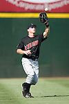 Indianapolis Indians left fielder Mike Edwards catches a fly ball to seal the 9-6 win over the Charlotte Knights at Knights Stadium in Fort Mill, SC, Sunday, August 13, 2006.