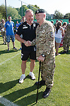 Rangers army visit in Germany - Ally McCoist with Garrison Sgt Major John Dawson