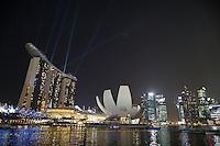 SINGAPURA, SINGAPURA, 21 SETEMBRO 2012 - FORMULA 1 - GP DE SINGAPURA - Vista noturna do circuito de Singapura nesta sexta-feira, 21, o Grande Premio acontece no proximo domingo. (FOTO: PIXATHLON / BRAZIL PHOTO PRESS).