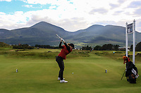 Amelia Garvey (NZL) on the 18th tee during the Matchplay Final of the Women's Amateur Championship at Royal County Down Golf Club in Newcastle Co. Down on Saturday 15th June 2019.<br /> Picture:  Thos Caffrey / www.golffile.ie