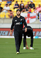 NZ captain Kane Williamson during the One Day International cricket match between the New Zealand Black Caps and England at the Westpac Stadium in Wellington, New Zealand on Friday, 2 March 2018. Photo: Dave Lintott / lintottphoto.co.nz