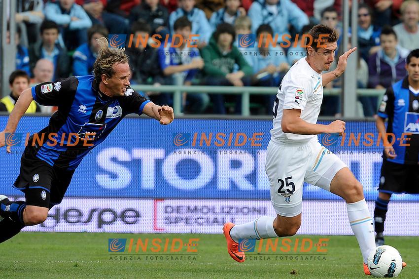 Miroslav Klose (Lazio).Bergamo, 06/05/2012 .Football Calcio 2011/2012 .Atalanta vs Lazio 0-2.Campionato di calcio Serie A.Foto Insidefoto
