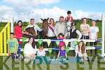 Launching the Killorglin Pony show which will be held in the Puck Fair Horse field on 4th August was front row l-r: Robert Evans, Micheala foley, Jamie Kissane, Aine Stephens, Julia O'Neill. Back row: Josie Kissane, Robbie Evans, Katie Evans, John Cronin, Niamh Cronin, Daniel Evans, Rachel Evans, Niamh and Lorna Griffin