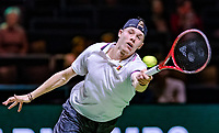 Rotterdam, The Netherlands, 12 Februari 2019, ABNAMRO World Tennis Tournament, Ahoy, first round singles: Dennis Shapovalov (CAN),<br /> Photo: www.tennisimages.com/Henk Koster