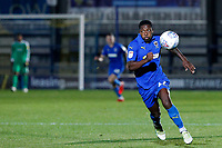Michael Folivi of AFC Wimbledon in action during the The Leasing.com Trophy match between AFC Wimbledon and Leyton Orient at the Cherry Red Records Stadium, Kingston, England on 8 October 2019. Photo by Carlton Myrie / PRiME Media Images.