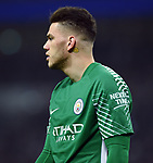 Manchester City goalkeeper Ederson during the premier league match at the Wembley Stadium, London. Picture date 14th April 2018. Picture credit should read: Robin Parker/Sportimage