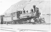 RGS 2-8-0 #42 with freight in Durango.<br /> RGS  Durango, CO  Taken by Perry, Otto C. - 7/4/1938