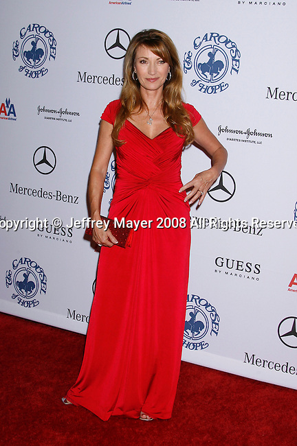 BEVERLY HILLS, CA. - October 25: Actress Jane Seymour  arrives at The 30th Anniversary Carousel Of Hope Ball at The Beverly Hilton Hotel on October 25, 2008 in Beverly Hills, California.