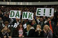 Fans der Kiel Baltic Hurricanes bedanken sich beim Team