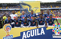 BOGOTÁ- COLOMBIA,21-07-2019:Formación de Millonarios contra el Once Caldas durante partido por la fecha 2 de la Liga Águila II 2019 jugado en el estadio Nemesio Camacho El Campín de la ciudad de Bogotá. /Team of  Millonarios agaisnt Once Caldas during the  match for the date 2 of the Liga Aguila II 2019 played at the Nemesio Camacho El Campin stadium in Bogota city. Photo: VizzorImage / Felipe Caicedo / Staff