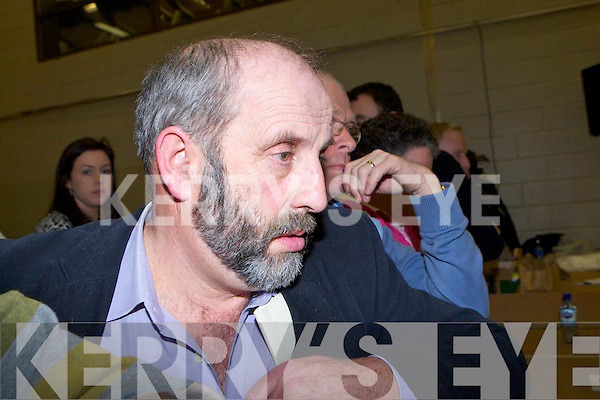 Danny Healy Rae showing the anxiety of the emotional first count at the Killarney South count in the Killarney Sports Centre on Saturday
