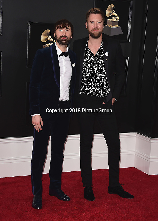 NEW YORK - JANUARY 28:  Lady Antebellum at the 60th Annual Grammy Awards at Madison Square Garden on January 28, 2018 in New York City. (Photo by Scott Kirkland/PictureGroup)