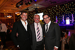 Celebrity Golf @ Golf Live.Gala Dinner.Ioan Gruffudd, Gareth Edwards & Rob Brydon..Celtic Manor Resort.11.05.13.©Steve Pope