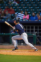 San Antonio Missions outfielder Travis Jankowski (6) at bat during a game against the NW Arkansas Naturals on May 30, 2015 at Arvest Ballpark in Springdale, Arkansas.  San Antonio defeated NW Arkansas 5-2.  (Mike Janes/Four Seam Images)