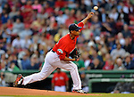 8 June 2012: Boston Red Sox pitcher Felix Doubront in action against the Washington Nationals at Fenway Park in Boston, MA. The Nationals defeated the Red Sox 7-4 in the opening game of their 3-game series. Mandatory Credit: Ed Wolfstein Photo