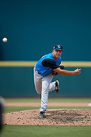 Tampa Tarpons relief pitcher Greg Weissert (34) during a Florida State League game against the Bradenton Marauders on May 26, 2019 at LECOM Park in Bradenton, Florida.  Bradenton defeated Tampa 3-1.  (Mike Janes/Four Seam Images)