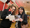HSBC Falkirk :  Customer Service Officer, Hannah Kerr, takes a customer through some of the products on offer.