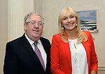 Joe Dolan, President, IHF and Miriam O'Callaghan, Conference Chairman  pictured  at the National Tourism Forum in The Muckross Park Hotel, Killarney at the weekend. <br /> Over 200 delegates from all over Ireland attend the inaugural event which was addressed by national and international speakers.<br /> Photo: Don MacMonagle<br /> <br /> Repro free photo