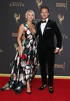 LOS ANGELES, CA - SEPTEMBER 09: Derek Hough, Kelsey McCowan, at the 2017 Creative Arts Emmy Awards at Microsoft Theater on September 9, 2017 in Los Angeles, California. <br /> CAP/MPIFS<br /> &copy;MPIFS/Capital Pictures