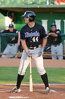 Daniel Palka (44) of the Missoula Osprey at bat against the Ogden Raptors at Lindquist Field on July 17, 2013 in Ogden Utah. (Stephen Smith/Four Seam Images)