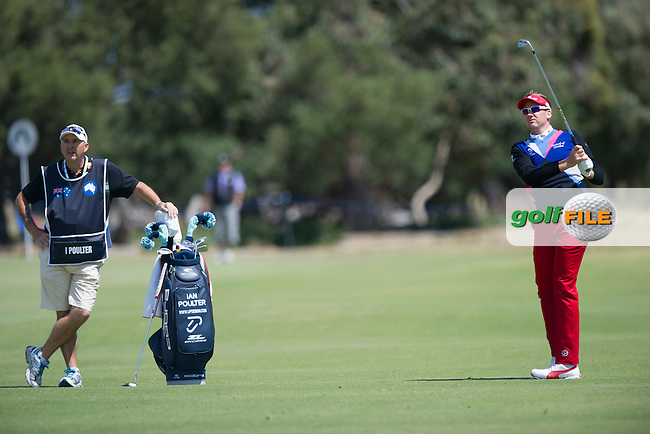 Ian Poulter takes a one stroke lead over Adam Scott moving into the final day of the Australian Masters in Melbourne (Photo: Anthony Powter) www.golffile.ie