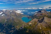 Stausee Lac du Mont Cenis: EUROPA,  FRANKREICH, ALPES MARITIMES 20.08.2013: Der Lac du Mont Cenis ist ein Stausee in Frankreich am Col du Mont Cenis suedwestlich des Gipfels Signal du Grand Mont Cenis. Er erstreckt sich ueber eine Laenge von 4500 Metern.