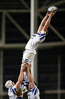 Tom Ellis of Bath Rugby wins the ball at a lineout. Heineken Champions Cup match, between Leinster Rugby and Bath Rugby on December 15, 2018 at the Aviva Stadium in Dublin, Republic of Ireland. Photo by: Patrick Khachfe / Onside Images