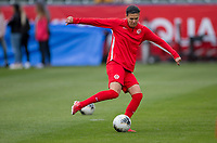 CARSON, CA - FEBRUARY 9: Christine Sinclair #12 of Canada warming up during a game between Canada and USWNT at Dignity Health Sports Park on February 9, 2020 in Carson, California.