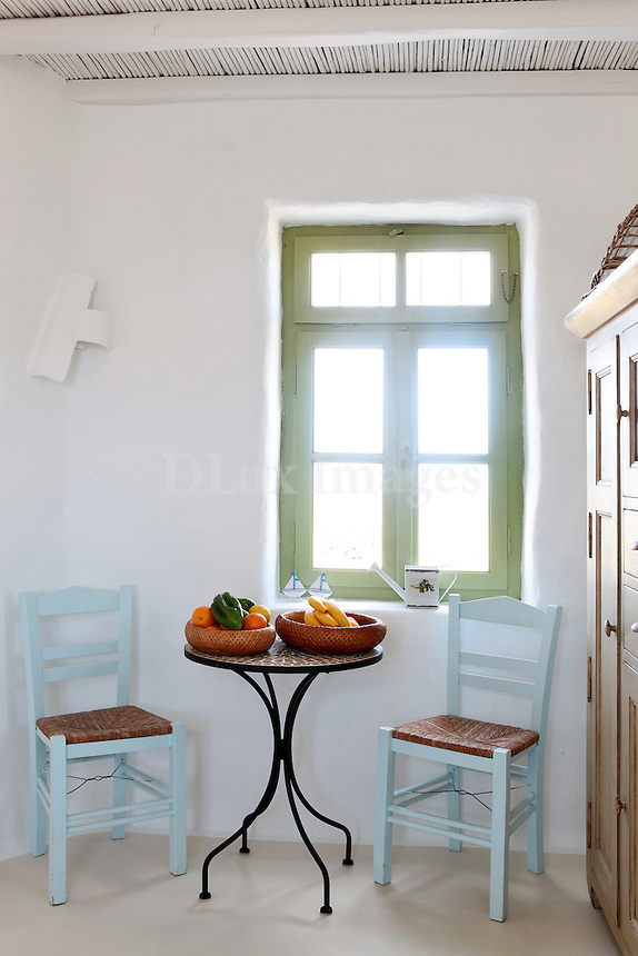 traditional cycladic dining set